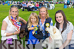 ..Niamh Dempsey, Isobelle O'Callaghan, Ann and Laura Dempsey Tralee with their dogs Honey (left) and Madison at the Tralee District dog show in Castleisland on Saturday ....