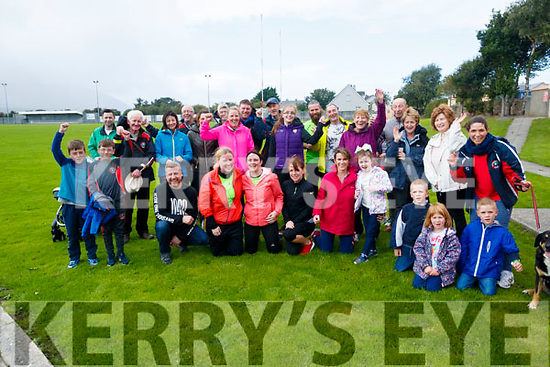 Some of the people who took part in the 5k walk in memory of Tony O'Donoghue, Blennerville on Sunday morning.