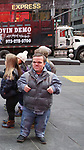 """Trent Johnston from The cast of TLC's """"7 Little Johnstons"""" filming promoting filming a visit to Times Square on January 4, 2019 in New York City."""