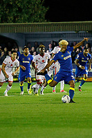 AFC Wimbledon's Lyle Taylor steps up to take the penalty during the Sky Bet League 1 match between AFC Wimbledon and MK Dons at the Cherry Red Records Stadium, Kingston, England on 22 September 2017. Photo by Carlton Myrie / PRiME Media Images.