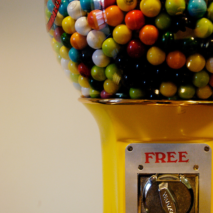 A gumball machine in the lobby at the National Confectioners Association/Chocolate Manufacturers Association offices in Tysons Corner, Va.