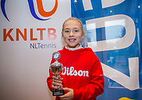 Hilversum, Netherlands, December 3, 2017, Winter Youth Circuit Masters, 12,14,and 16 years, 6 th place girls 12 years Charlotte Pikkaart<br /> Photo: Tennisimages/Henk Koster