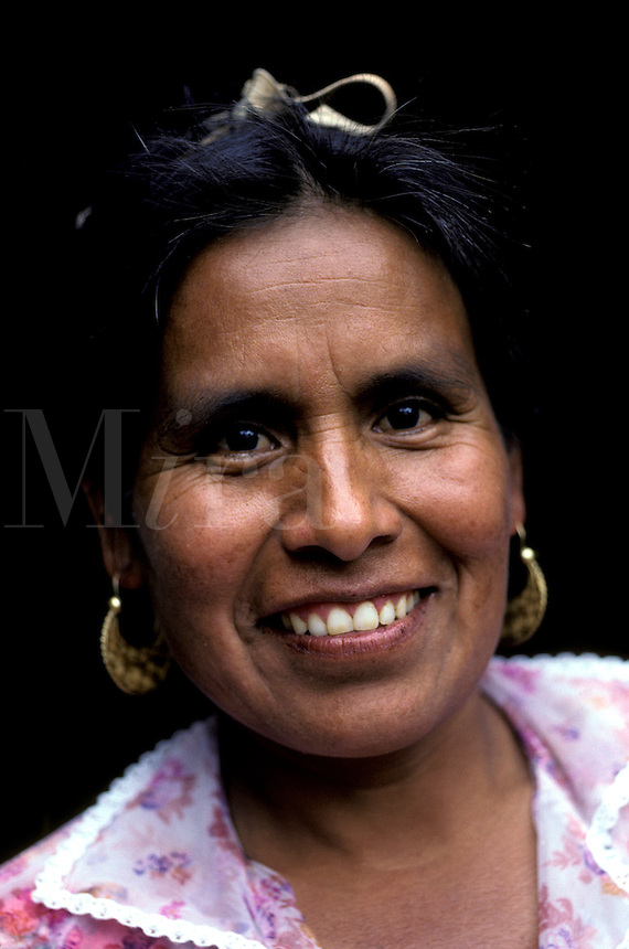 Smiling Mexican woman