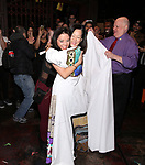 "Catherine Ricafort, MaryAnn Hu and David Westphal during The Opening Night Actors' Equity Gypsy Robe Ceremony honoring Catherine Ricafort for the New Broadway Production of  ""Miss Saigon""  at the Broadway Theatre on March 23, 2017 in New York City"
