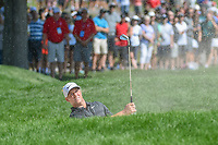 Alex Noren (SWE) hits from the trap on 1 during 4th round of the World Golf Championships - Bridgestone Invitational, at the Firestone Country Club, Akron, Ohio. 8/5/2018.<br /> Picture: Golffile | Ken Murray<br /> <br /> <br /> All photo usage must carry mandatory copyright credit (© Golffile | Ken Murray)