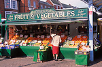 A752N6 Fruit and vegetable market stall Great Yarmouth Norfolk England