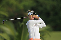 Jessica Korda (USA) in action on the 2nd during Round 3 of the HSBC Womens Champions 2018 at Sentosa Golf Club on the Saturday 3rd March 2018.<br /> Picture:  Thos Caffrey / www.golffile.ie<br /> <br /> All photo usage must carry mandatory copyright credit (&copy; Golffile | Thos Caffrey)