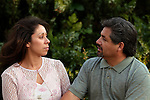 Hispanic couple in dispute