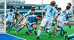ALMERE - Hockey - Hoofdklasse competitie heren. ALMERE-HGC (0-1) . warming up HGC. midden Weigert Schut (HGC).  COPYRIGHT KOEN SUYK