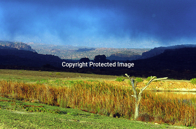 DISPWCA00075.West Coast, nature, conservation, lake,cederberg,.mountains, paintings, bushman, bushmans,.A lake in close to Bushmanskloof, a luxury resort and a private reserve. The area has a high number of bushman paintings. Bushmanskloof, South Africa. .©Per-Anders Pettersson/iAfrika Photos