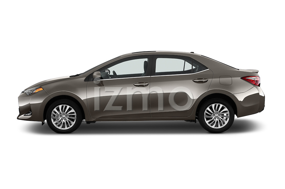 Car Driver side profile view of a 2018 Toyota Corolla LE-Eco-AT 4 Door Sedan Side View