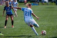 Kansas City, MO - Wednesday August 16, 2017: Monica Hickmann Alves during a regular season National Women's Soccer League (NWSL) match between FC Kansas City and the Orlando Pride at Children's Mercy Victory Field.