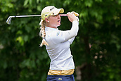 28th May 2017, Ann Arbor, MI, USA;  Charley Hull, of England, watches her tee shot on the seventh hole during the final round of the LPGA Volvik Championship on May 28, 2017 at Travis Pointe Country Club in Ann Arbor, Michigan.