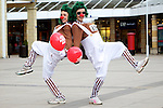 Pix: Shaun Flannery/shaunflanneryphotography.com...COPYRIGHT PICTURE>>SHAUN FLANNERY>01302-570814>>07778315553>>..19th March 2011...............Lakeside Village, Doncaster..Comic Relief Event..Bethany Head and Tarsha Harrison of Sprotbrough.