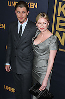 HOLLYWOOD, LOS ANGELES, CA, USA - DECEMBER 15: Garrett Hedlund, Kirsten Dunst arrives at the Los Angeles Premiere Of Universal Pictures' 'Unbroken' held at the Dolby Theatre on December 15, 2014 in Hollywood, Los Angeles, California, United States. (Photo by Xavier Collin/Celebrity Monitor)