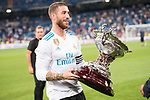 Real Madrid's Sergio Ramos during XXXVIII Santiago Bernabeu Trophy at Santiago Bernabeu Stadium in Madrid, Spain August 23, 2017. (ALTERPHOTOS/Borja B.Hojas)
