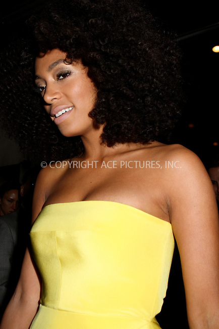 WWW.ACEPIXS.COM . . . . .  ....May 7 2012, New York City....Solange Knowles leaving a hotel on the way to the Met Gala on May 7 2012 in New York City....Please byline: NANCY RIVERA- ACEPIXS.COM.... *** ***..Ace Pictures, Inc:  ..Tel: 646 769 0430..e-mail: info@acepixs.com..web: http://www.acepixs.com