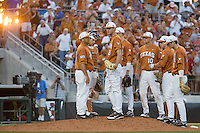 Texas Longhorns starting pitcher Taylor Jungmann #26 is removed from the game against the Arizona State Sun Devls in NCAA Tournament Super Regional baseball on June 10, 2011 at Disch Falk Field in Austin, Texas. (Photo by Andrew Woolley / Four Seam Images)