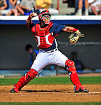 10 March 2009: Washington Nationals catcher Luke Montz in action during a Spring Training game against the New York Mets at Space Coast Stadium in Viera, Florida. The Nationals and Mets tied 5-5 in the 10-inning Grapefruit League matchup. Mandatory Photo Credit: Ed Wolfstein Photo