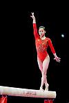 Yumika Nakamura (JPN), <br /> AUGUST 21, 2018 - Artistic Gymnastics : <br /> Women's Individual All-Around Balance Beam <br /> at JIEX Kemayoran Hall D <br /> during the 2018 Jakarta Palembang Asian Games <br /> in Jakarta, Indonesia. <br /> (Photo by Naoki Nishimura/AFLO SPORT)
