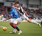 03.11.2018: St Mirren v Rangers: Alfredo Morelos holds off Alfie Jones