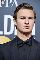 Nominated for BEST PERFORMANCE BY AN ACTOR IN A MOTION PICTURE &ndash; COMEDY OR MUSICAL for his role in &quot;Baby Driver,&quot; actor Ansel Elgort arrives at the 75th Annual Golden Globe Awards at the Beverly Hilton in Beverly Hills, CA on Sunday, January 7, 2018.<br /> *Editorial Use Only*<br /> CAP/PLF/HFPA<br /> &copy;HFPA/PLF/Capital Pictures