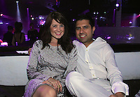 Rachel Byrne and Anand Nair attend The Friends of Finn by the Shore party at Finale East on Aug. 2, 2014 (Photo by Taylor Donohue/Guest of a Guest)