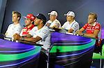 Nico Rosberg (GER), Mercedes GP - Fernando Alonso (ESP),  Scuderia Ferrari - Lewis Hamilton (GBR), Mercedes GP - Kevin Magnussen (DAN)  McLaren F1 Team - Valtteri Bottas (FIN), Williams F1 Team - Max Chilton (GBR), Marussia F1 Team<br />  Foto &copy; nph / Mathis