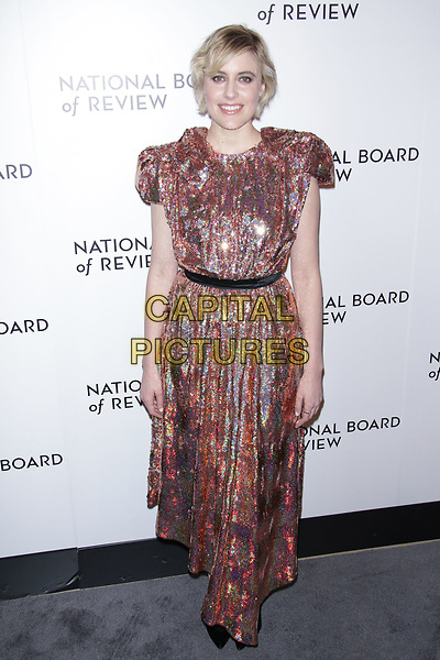 NEW YORK, NY - JANUARY 9: Greta Gerwig at The National Board of Review Annual Awards Gala at Cipriani 42nd Street on January 9, 2017 in New York City. <br /> CAP/MPI99<br /> &copy;MPI99/Capital Pictures