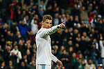 Cristiano Ronaldo of Real Madrid gestures during the La Liga 2017-18 match between Real Madrid and Girona FC at Estadio Santiago Bernabéu  on March 18 2018 in Madrid, Spain. Photo by Diego Souto / Power Sport Images