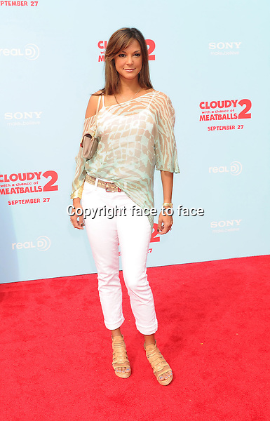 WESTWOOD, CA- SEPTEMBER 21: Actress Eva La Rue arrives at the Los Angeles premiere of 'Cloudy With A Chance Of Meatballs 2' at the Regency Village Theatre on September 21, 2013 in Westwood, California.(Eva La Rue)<br /> Credit: Mayer/face to face<br /> - No Rights for USA, Canada and France -
