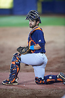 Bowing Green Hot Rods catcher Samm Wiggins in the bullpen during a game against the Quad Cities River Bandits on July 24, 2016 at Modern Woodmen Park in Davenport, Iowa.  Quad Cities defeated Bowling Green 6-5.  (Mike Janes/Four Seam Images)