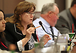 Nevada Assemblywoman Maggie Carlton, D-Las Vegas, works in committee on Friday, April 15, 2011, at the Legislature in Carson City, Nev. .Photo by Cathleen Allison