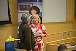 Bobbie Shay Lee, founder of the Center for Transparency, speaks to the URI College of Business on Wednesday, April 13, 2016 on the Kingston Campus in South Kingstown, RI. (Photo/Joe Giblin)