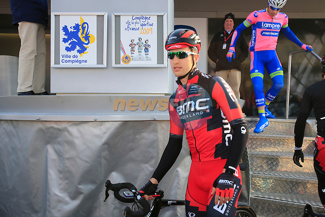 Taylor Phinney (USA) BMC Racing Team at the sign on in Compiegne before the start of the 111th edition of the 2013 Paris-Roubaix cycle race, France 7th April2013 (Photo by Eoin Clarke 2013)