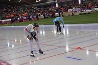 SPEEDSKATING: HAMAR: Vikingskipet, 29-02-2020, ISU World Speed Skating Championships, Sprint, 1000m Ladies, Katja Franzen (GER), Stien Vanhoutte (BEL), ©photo Martin de Jong