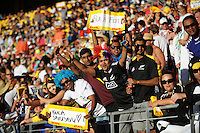Fans in the grandstand on day two of the 2016 HSBC Wellington Sevens at Westpac Stadium, Wellington, New Zealand on Sunday, 31 January 2016. Photo: Dave Lintott / lintottphoto.co.nz