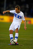 Domenico Criscito (ITA), during the friendly match Italy against USA at the Stadium Luigi Ferraris at Genova Italy on february the 29th, 2012.
