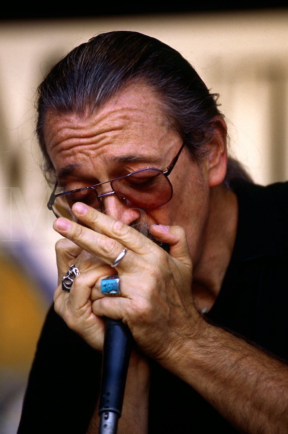CHARLIE MUSSELWHITE plays the HARMONICA - MONTEREY BAY BLUES FESTIVAL, CALIFORNIA