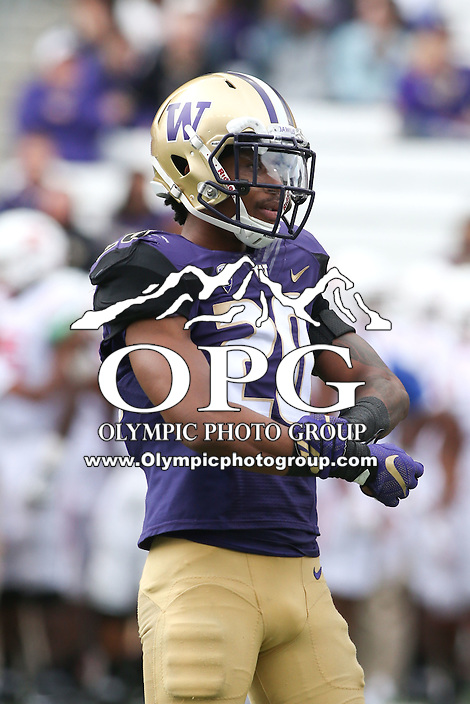 03 September 2016: Washington's Kevin King against Rutgers.  Washington defeated Rutgers 48-13 at the University of Washington in Seattle, WA.