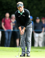 Luke Donald lines up a putt on the 1st - BMW Golf at Wentworth - Day 2 - 22/05/15 - MANDATORY CREDIT: Rob Newell/GPA/REX -