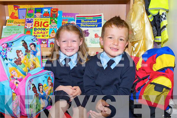 Rachel McAulliffe and Benjamin Sobecki enjoying school in Hollymount NS Rathmore