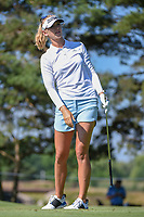 Jessica Korda (USA) watches her tee shot on 3 during round 1 of the 2018 KPMG Women's PGA Championship, Kemper Lakes Golf Club, at Kildeer, Illinois, USA. 6/28/2018.<br /> Picture: Golffile | Ken Murray<br /> <br /> All photo usage must carry mandatory copyright credit (&copy; Golffile | Ken Murray)