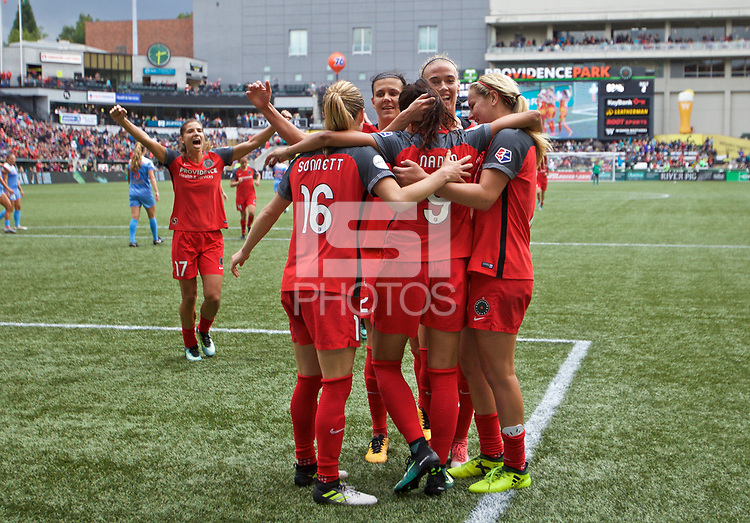 Portland, OR - Saturday September 30, 2017: Nadia Nadim during a regular season National Women's Soccer League (NWSL) match between the Portland Thorns FC and the Chicago Red Stars at Providence Park.