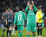 1. Bundesliga 2008 / 2009 16. Spieltag Hinrunde<br /> Karlsruher SC - Werder Bremen (0:0) 1:0<br /> <br /> Ein entt&auml;uschter Clemens Fritz (Bremen #8). Mesut Oezil (Bremen #11) im Hintergrund l&auml;uft zum Torh&uuml;ter Tim Wiese (Bremen #1) <br /> <br /> Foto &copy; nph (  nordphoto  )<br /> <br /> Fotos sind ohne vorherige schriftliche Zustimmung ausschliesslich f&cedil;r redaktionelle Puplikationszwecke zu verwenden.