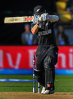 Kane Williamson in action during the ICC Cricket World Cup one day pool match between the New Zealand Black Caps and England at Wellington Regional Stadium, Wellington, New Zealand on Friday, 20 February 2015. Photo: Dave Lintott / lintottphoto.co.nz