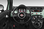 Car pictures of steering wheel view of a 2015 Fiat 500 Sport Door Hatchback Steering Wheel
