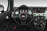 Car pictures of steering wheel view of a 2015 Fiat 500 Sport Door Hatchback Steering Wheel