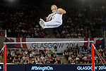 Wales Harry Owen in action today <br /> <br /> Photographer Ian Cook/Sportingwales<br /> <br /> 20th Commonwealth Games -Gymnastics -  Day 7 - Wednesday 30th July 2014 - Glasgow - UK