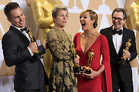 Oscar&reg; winners Sam Rockwell, Frances McDormand, Allison Janney and Gary Oldman pose backstage during the live ABC Telecast of The 90th Oscars&reg; at the Dolby&reg; Theatre in Hollywood, CA on Sunday, March 4, 2018.<br /> *Editorial Use Only*<br /> CAP/PLF/AMPAS<br /> Supplied by Capital Pictures